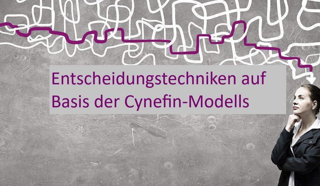 Entscheidungen auf Basis des Cynefin-Modells